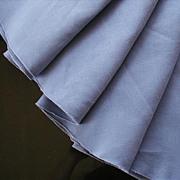 Purple Linen Round Tablecloth Vintage 1960s