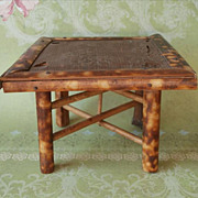 Bamboo Doll House Table Victorian Antique Miniature Toy