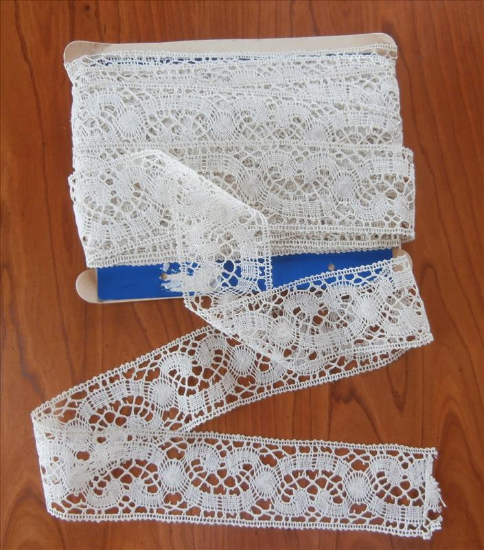 French Bobbin Lace Yardage Unused Vintage to Antique