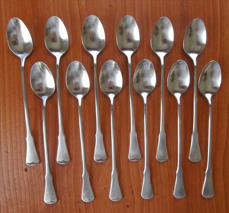 Patrick Henry Stainless Steel Vintage Oneida Iced Tea Spoons 12