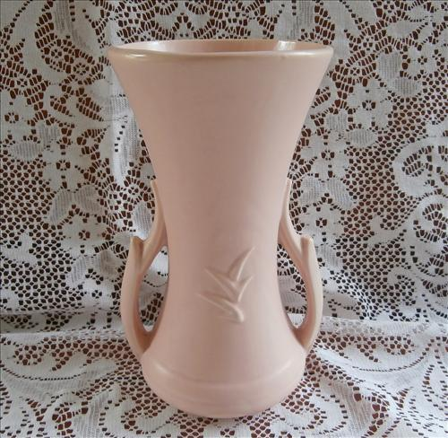 Pink McCoy Vase Pottery Vintage