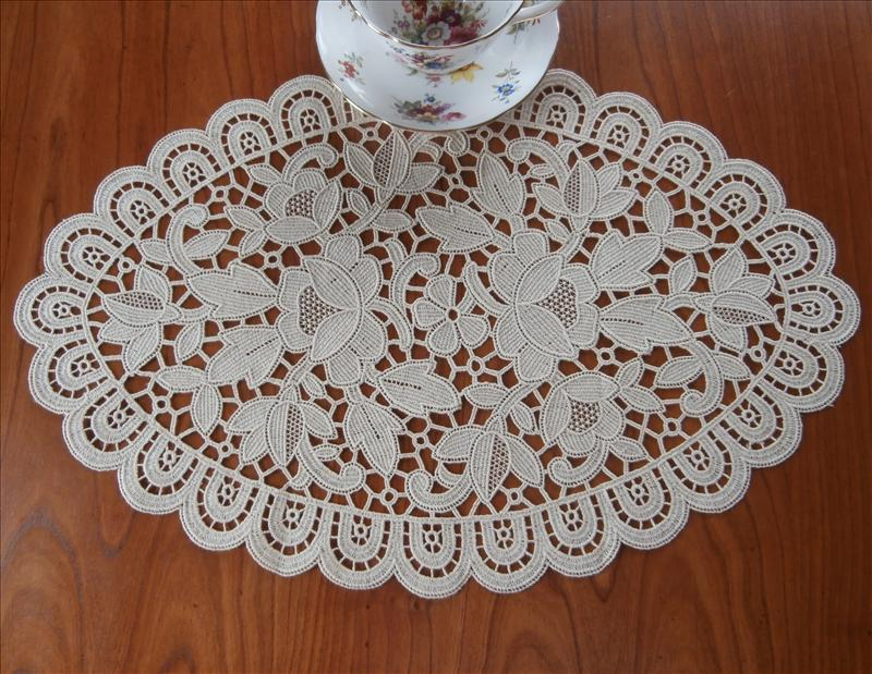 Lace Centerpiece Doily Natural Color Chemical Lace