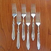 Adam 1917 Hollow Handle Forks Vintage Silver