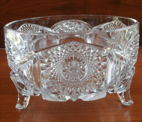 Ferner Bowl Imperial Nucut Antique Pressed Glass Footed