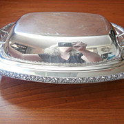 Roses Silver Serving Dish Convertible Lid Vintage 1920s Academy On Copper