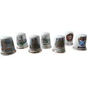 Thimbles All British Scottish Landmarks Etc Thimble China Vintage