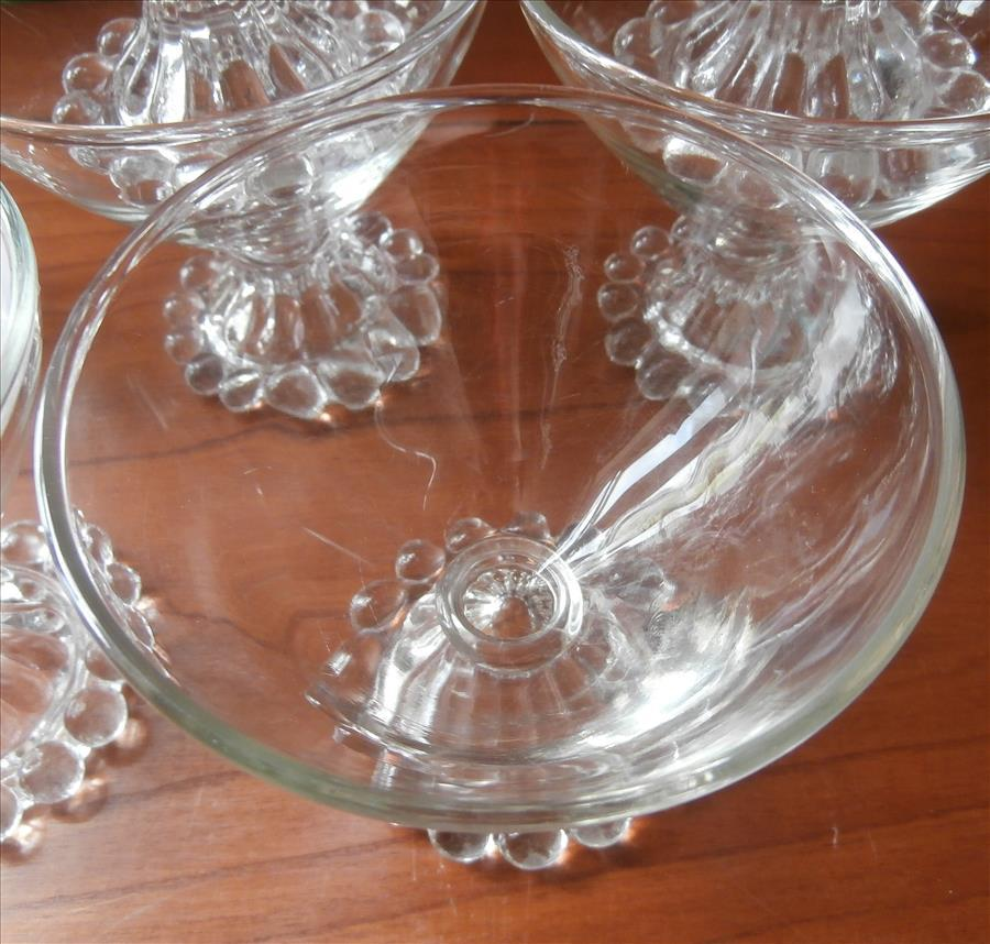 Candlewick Imperial Glass Sherbet Fruit Dishes Set 8