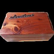 Sweetheart Cedar Box Vintage Jewelry Souvenir Syracuse NY