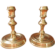 Colonial Williamsburg CW 16 20 Brass Candlesticks Pair Vintage