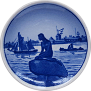Langelinie Royal Copenhagen Aluminia Denmark Mini Plate Little Mermaid