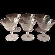 Iridescent Cocktail Glasses Roses Soap Bubble Luster Vintage Stemware