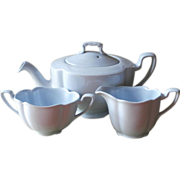 Greydawn Johnson Brothers England Teapot Creamer Sugar Vintage China