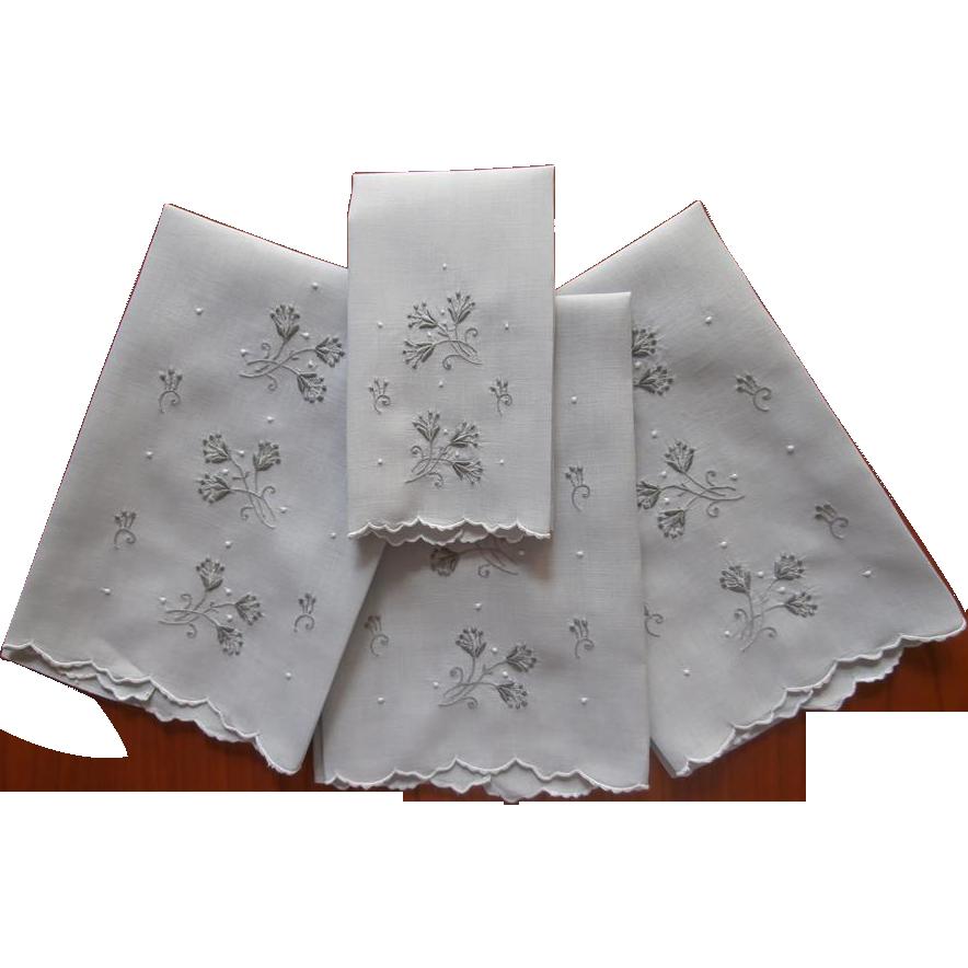 Madeira Guest Towels Fingertip Towel Set Vintage Linen