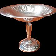 Poppies Silver Compote Vintage Oneida Gala Pattern Art Nouveau Revival