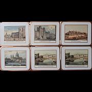 English Coasters Pimpernel Landmarks London Scenes Vintage Set 6