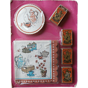 Coffee Klatsch Paper Party Set Vintage Matchboxes Coasters Napkins
