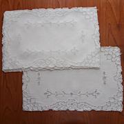 1920s Placemats Mosaic Work Vintage Linen