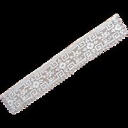 Lace Collar Armistice Period Antique Net Filet Strip Style