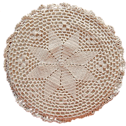 Trivet Hot Pad Antique 1910s Crocheted Lace