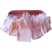 Pink Gloves Satin Glove Dresser Box Vintage