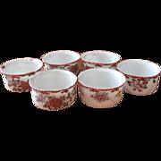 Ramekins Antique Japan Hand Painted Spice Colors China Set 6