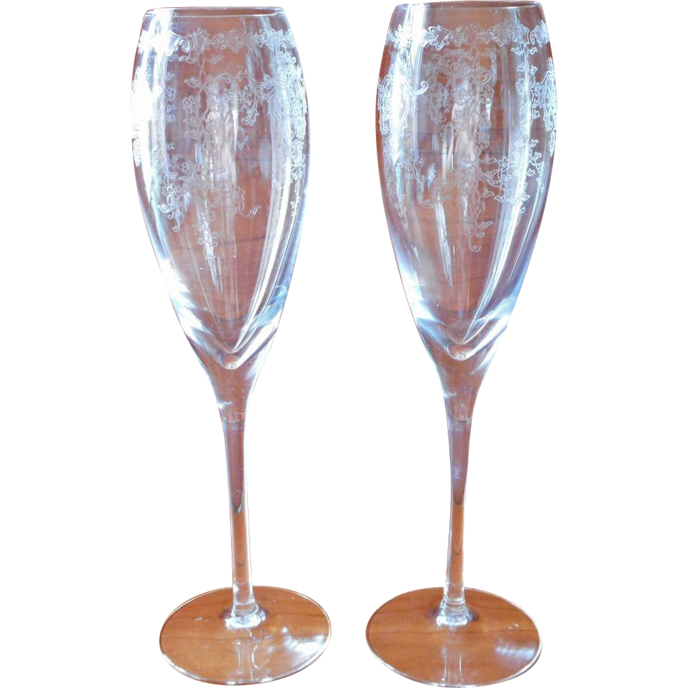 colored waterford crystal flutes lenox