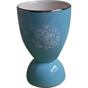 Aynsley Egg Cup Turquoise Blue China Hand Painted