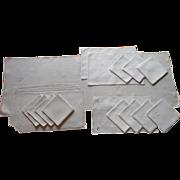 Italian Work Linen Vintage 1920s Runner Napkins Placemats TLC