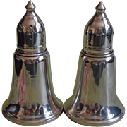 Sterling Shakers Vintage Silver Salt Pepper  Classic Shape