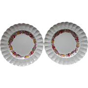 Spode Rose Briar Dessert Plates Vintage 2 China