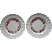 Spode Rose Briar Bread Plates Vintage 2 China