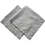 2 Tea Tablecloths Simple White Hemstitched Linen Vintage