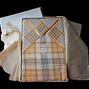 Czech Linen Set Tablecloth Napkins Vintage 1920s Unused