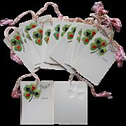 1920s Bridge Tallies Set 24 Vintage Paper Playing Cards