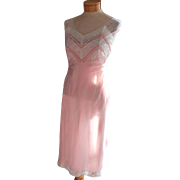 Pink Slip Lace Vintage 1950s Net Crimped Fancy Decoration