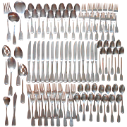 Oneida American Colonial Stainless Steel Vintage Set 86 Pieces