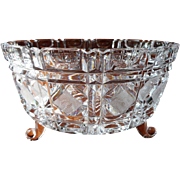 Ferner Bowl Cut and Pressed Glass Vintage Crystal Serving