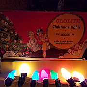 Vintage Glolite Christmas lights