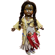 Madame Hendren Composition Indian Doll with Papoose