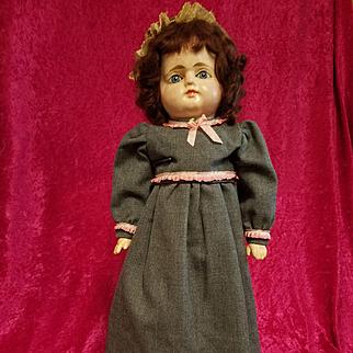 Antique Papier Mache Doll