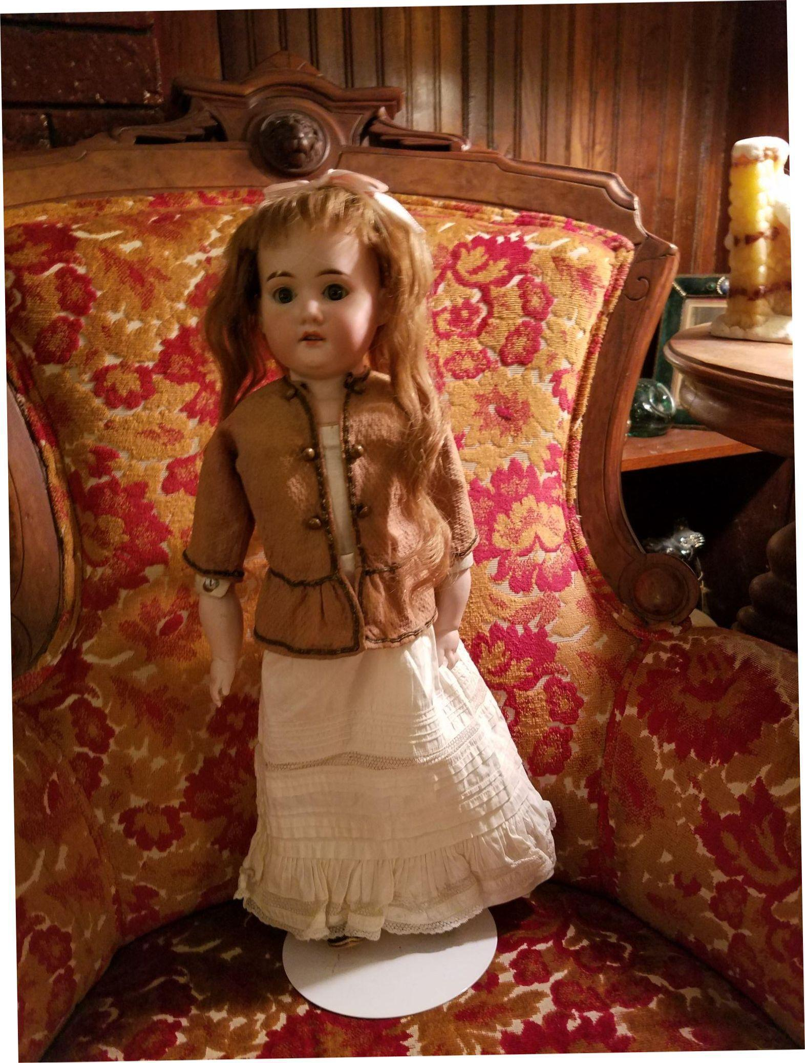 Victorian Brown Textured Cotton Doll Blouse
