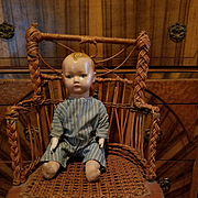 Early Composition Baby Boy Doll in Original Romper