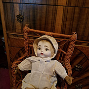 Vintage Cloth Doll with Mask Face in Original Clothes