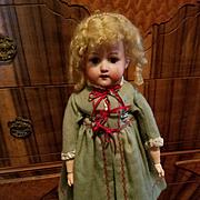 Vintage Green Wool Doll Coat
