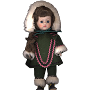 Hard Plastic Walker in Original Felt Eskimo Clothes