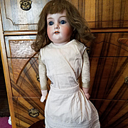 Antique Cream Cotton Fancy Doll Slip