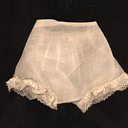 Vintage Eggshell Cotton Doll Panties for a Composition Doll