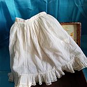 Antique Cream Cotton Doll Slip