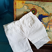 Antique White Cotton Doll Pantaloons