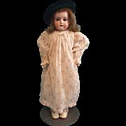 Antique Bisque Armand Marseille 370 in Antique Cotton Print Dress